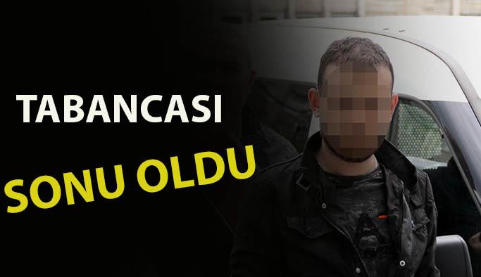Üzerinden Tabanca ve 17 Adet Mermi Çıkan Şahıs Gözaltına Alındı