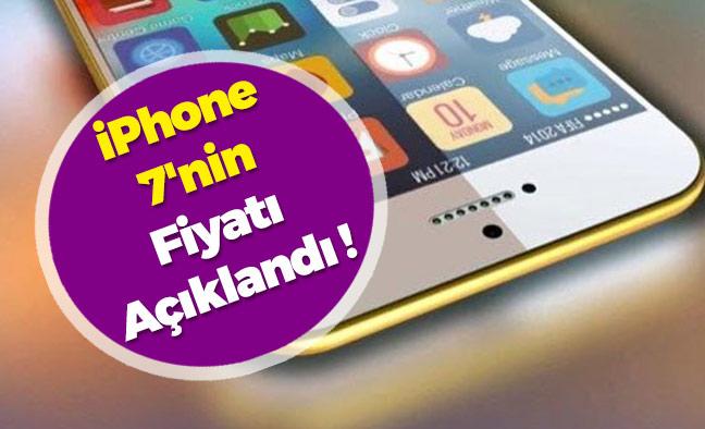 iPhone 7'nin Fiyatı Açıklandı !