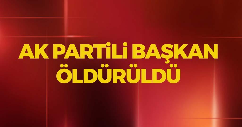AK Partili Başkan Öldürüldü