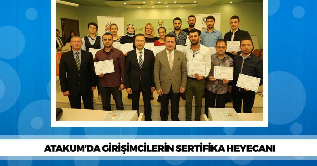 Atakum'da Girişimciler Sertifikalarını Aldı