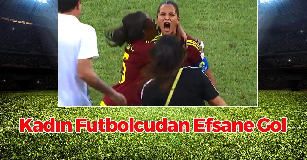 Kadın Futbolcudan Efsane Gol