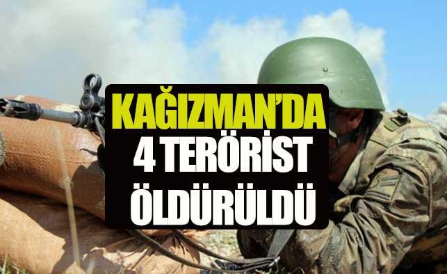 Kars'ta 4 terörist öldürüldü