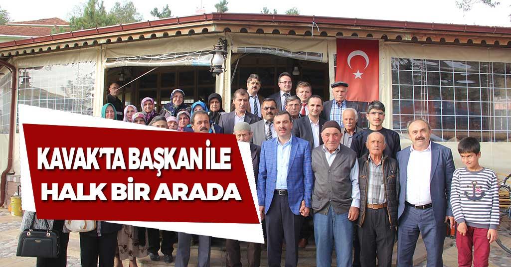 Kavak'ta Başkan ve Halk Bir Arada