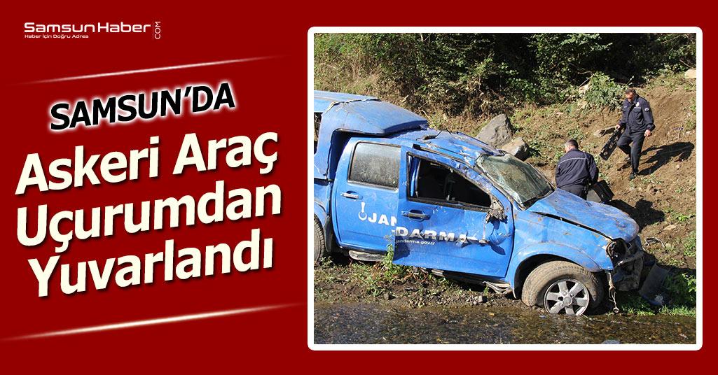Samsun'da Askeri Araç Uçurumdan Yuvarlandı