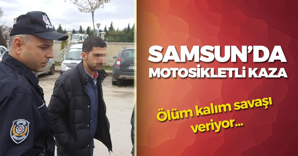 Samsun'da Motosikletli Kaza: 2 Yaralı