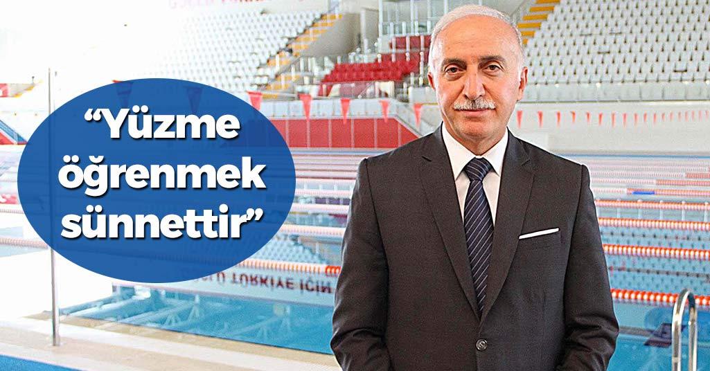 Vali Şahin: 'Yüzme öğrenmek sünnettir'