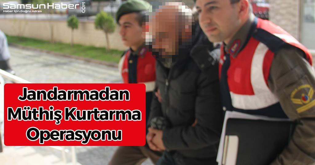 Samsun'da Jandarmadan Müthiş Kurtarma Operasyonu