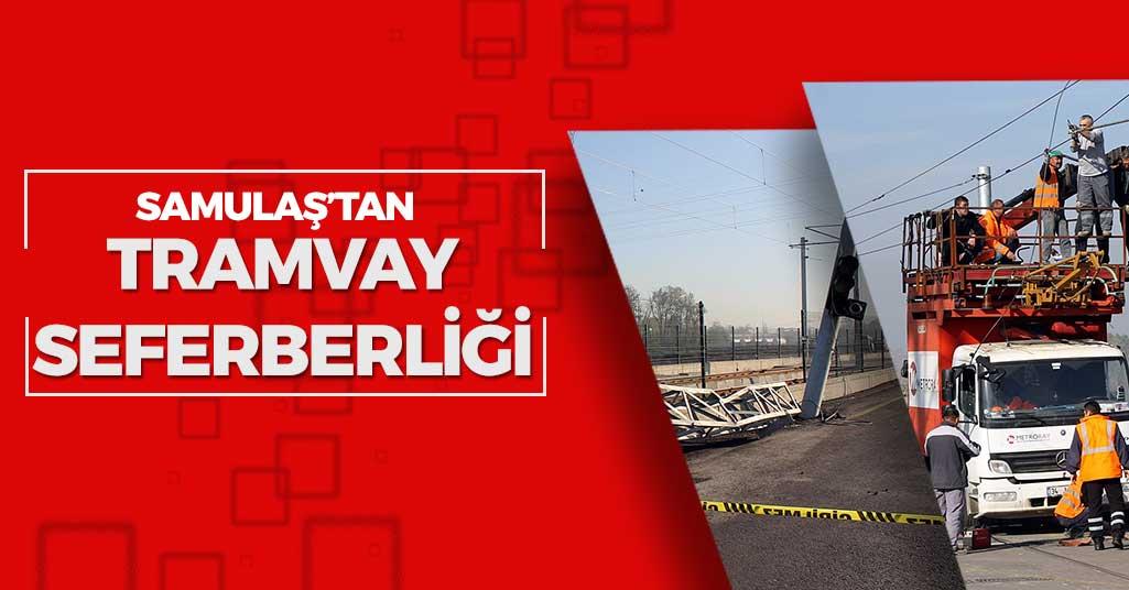Samsun-Tekkeköy Tramvay Hattında Onarım Sürüyor