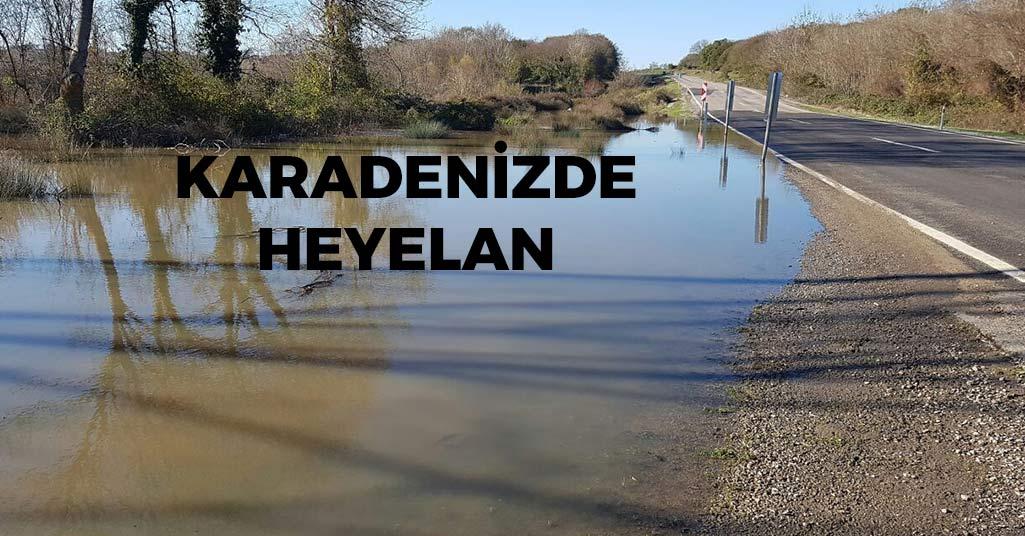 Sinop'ta Heyelan Yolu Kapattı