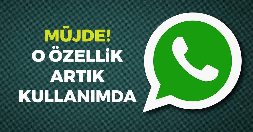 WhatsApp'ta O Özellik Artık Kullanımda