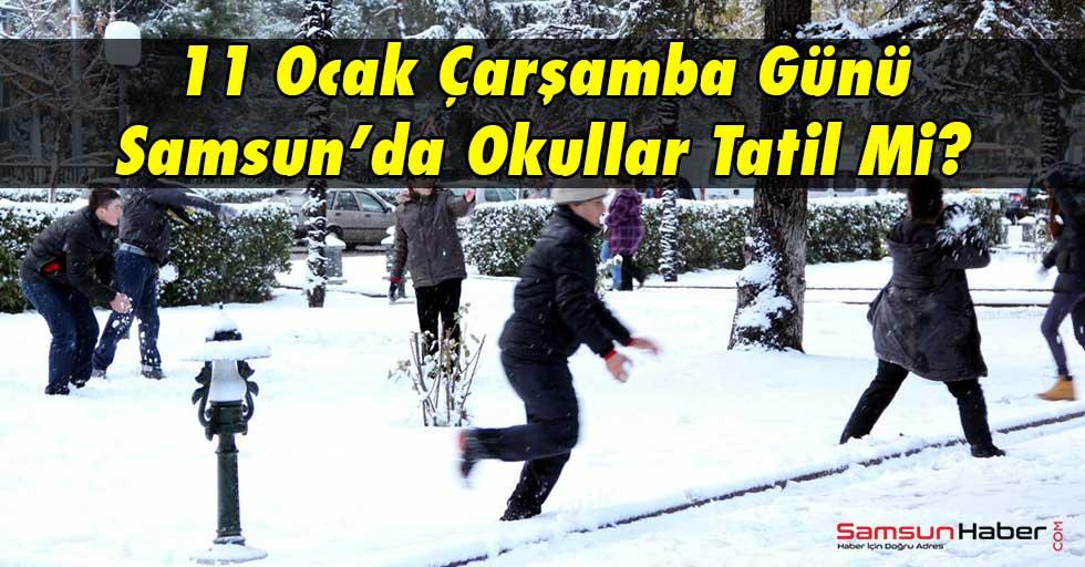 Samsun'da 11 Ocak Çarşamba Günü Okullar Tatil Mi?