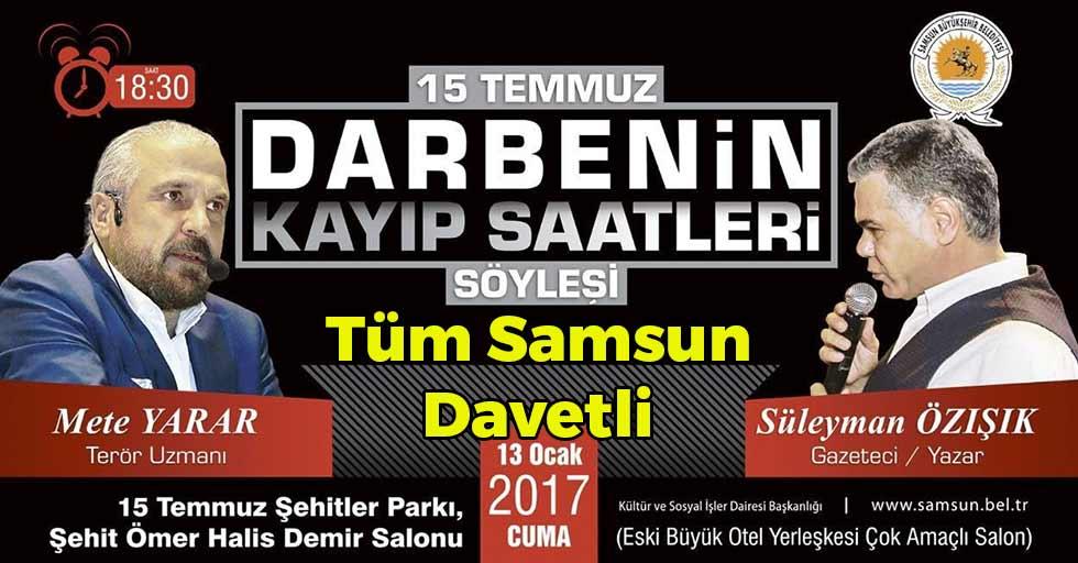 Samsun'da 15 Temmuz Konferansı
