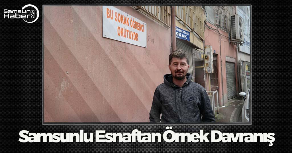 Samsun'da Esnaftan Örnek Alınacak Davranış...