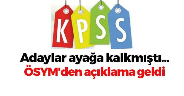 KPSS Ücretleri Konusunda ÖSYM'den Açıklama