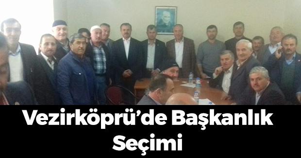 Vezirköprü'de Köy ve Mahalle Muhtarları Derneği Başkan Seçti
