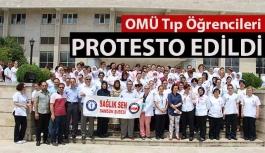 OMÜ Tıp Öğrencileri Protesto Edildi