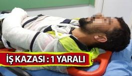 Samsun'da İş Kazası: 1 Yaralı