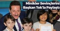 Minikler Karne Sevincini Başkan Tok'la Paylaştı