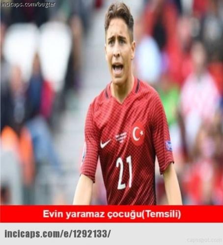 Türkiye Ukrayna maçı sonrası caps'ler