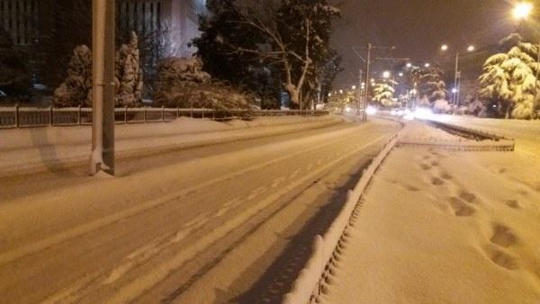 Samsun'da kar manzaraları-2017