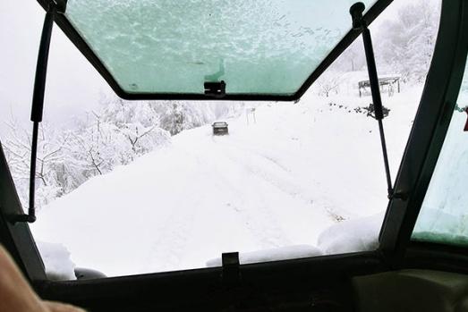 Samsun'da kar yağışı etkili oluyor