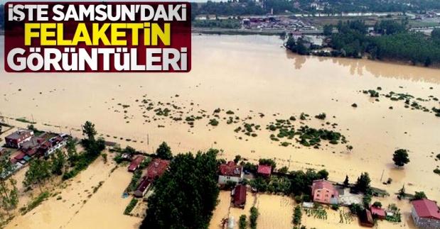 Samsun Terme'de Sel Felaketinin Görüntüleri