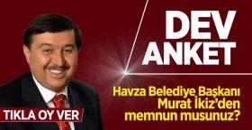 Havza Belediye Başkanı Murat İkiz'den memnun musunuz?