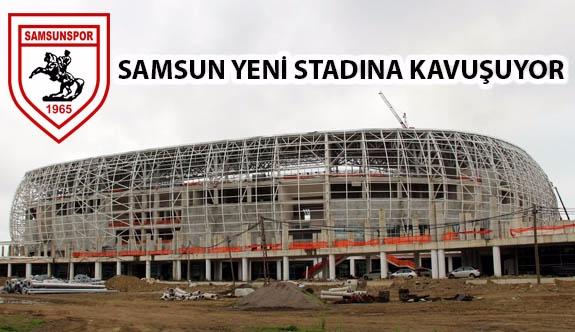 Samsunspor Oyuncuları Ve Yönetim Kadrosu Yeni Stadı İnceledi