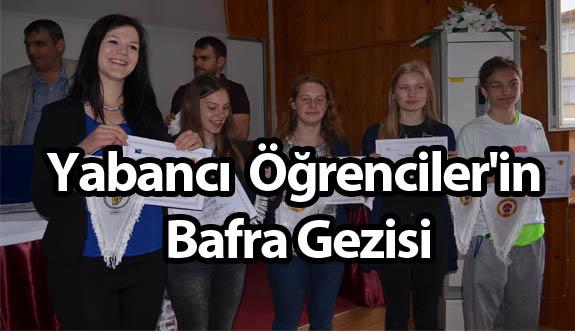 Yabancı Öğrenciler'in Bafra Gezisi