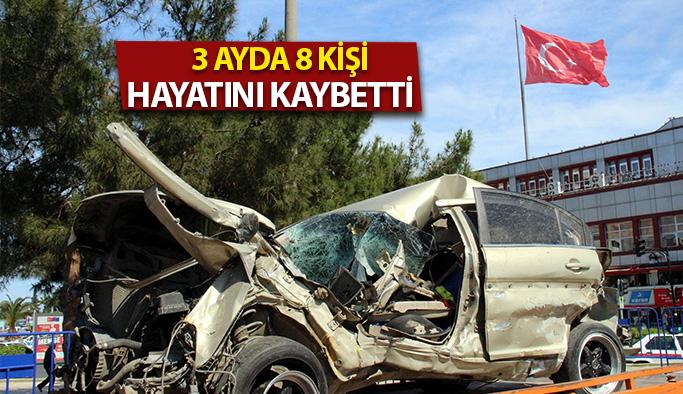 3 Ayda Meydana Gelen Trafik Kazalarında : 680 Yaralı 3 Can Kaybı