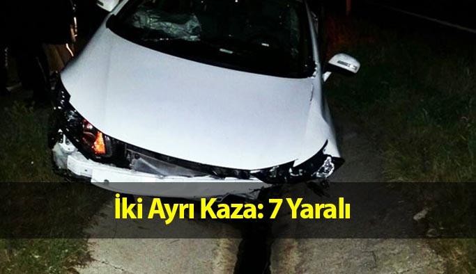 Çorum'da İki Ayrı Kaza: 7 Yaralı
