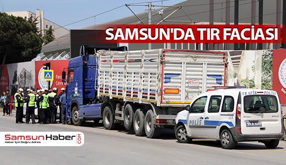 Samsun'da İki Kişi Tırın Altında Kaldı
