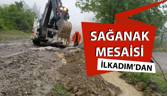 Samsun'da Sağanak Yağış Hasara Neden Oldu