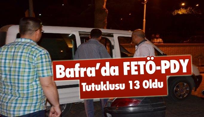Bafra'da FETÖ-PDY tutuklusu 13 oldu