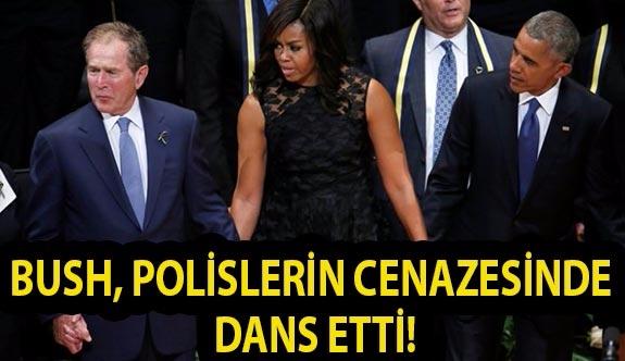 Bush, Polislerin Cenazesinde Dans Etti!