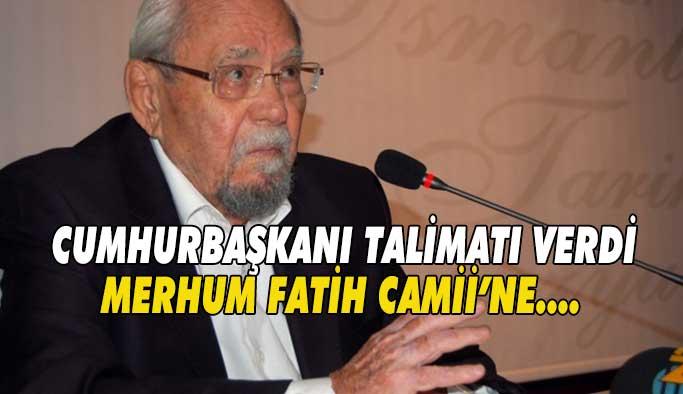 Fatih Camii'ne gömülecek