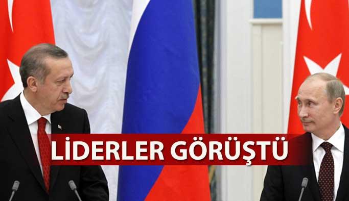Recep Tayyip Erdoğan, Putin ile görüşme yaptı