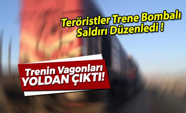 Teröristler Trene Bombalı Saldırı Düzenledi