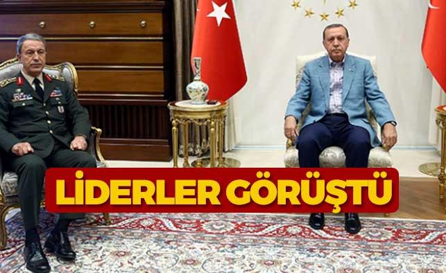 Akar'ı Cumhurbaşkanı Erdoğan kabul etti