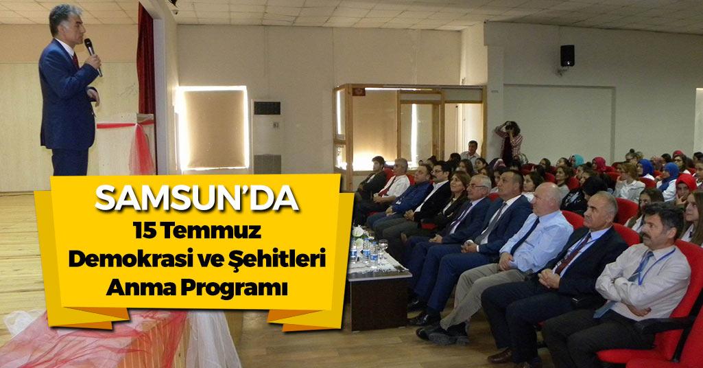 Samsun'da Şehitleri Anma Programı Yapıldı