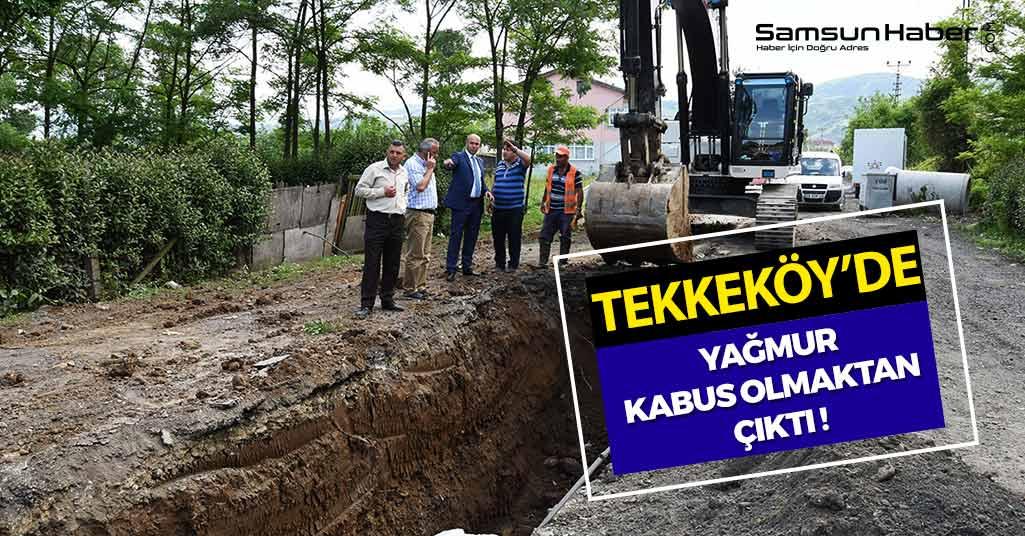 Samsun'un İlçesi Tekkeköy'de Yağmurlar Kabus Olmayacak