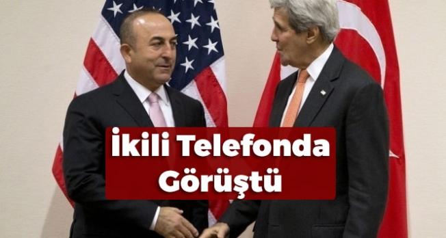 Bakan Çavuşoğlu ABD Dışişleri Bakanı John Kerry ile Görüştü