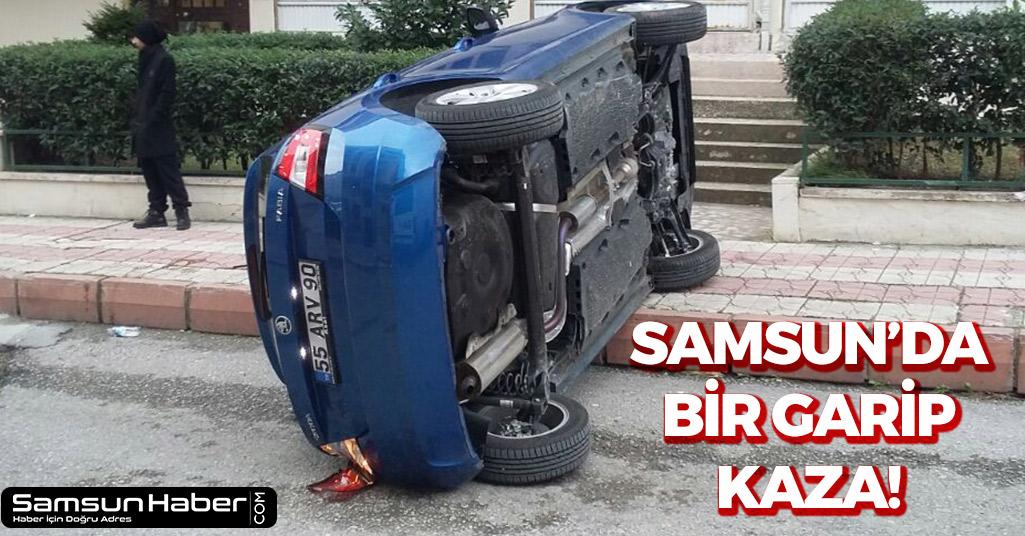 Samsun'da Bir Garip Kaza!