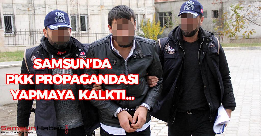 Samsun'da PKK Propagandası Yapmaya Kalktı...