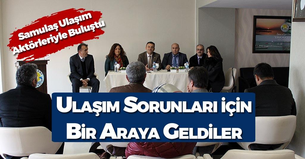 Samsun'da Ulaşım Aktörleri Bir Araya Geldi