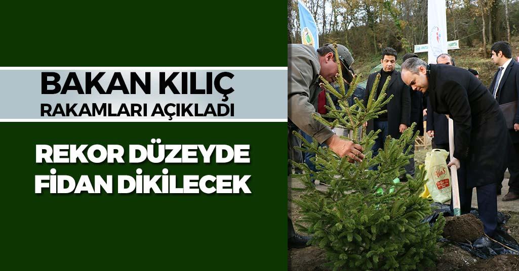 Samsun ve Türkiye Genelinde Rekor Fidan Dikimi