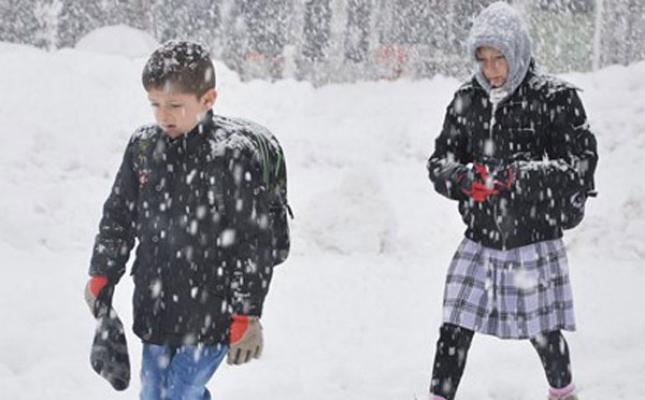 Amasya'da okullara bir gün kar tatili
