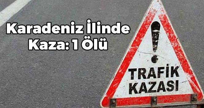 Karadeniz İlinde Kaza: 1 Ölü