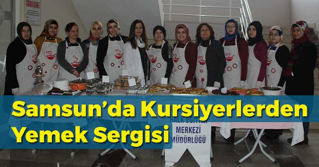 Samsun'da Kursiyerlerden Sergi