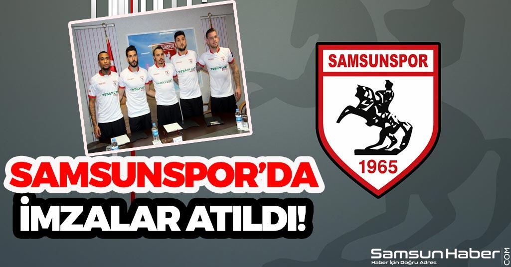 Samsunspor'da İmzalar Atıldı